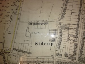 Map of Sidcup showing Victoria Road